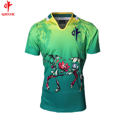 customize high quality full sublimatedprinting rugby uniform, rugby jersey