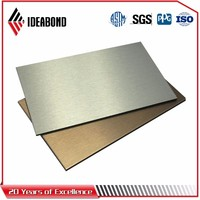 Brushed surface treatment acp / new innovation building material