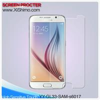 For mobile phone Samsung galaxy S6 screen protector / HD tempered glass screen protector
