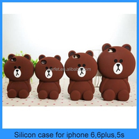 Rilakkuma Bear Animal Silicon Case For Iphone 6/6plus ,Phone5/4