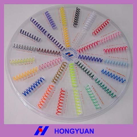 Top Quality Product Cheap Promotion Stationery PVC Plastic Book Binding Spiral Coil