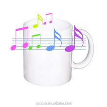 hot Sale Music Mug With Sound Recordable ,Music Mugs Photo Changing Mug With Hot Water