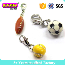 Chinese supplier wholesale custom enamel alloy football charms jewelry