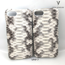 Exotic Genuine Python Snake skin python Leather Cell Phone Case for phone 6s plus / phone 7 case custom OEM/ODM