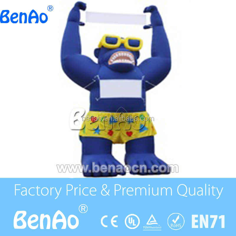 AC147 Inflatables Giant Inflatable Advertising 20ft Tall Blue Sale Gorilla/ Giant Inflatable Gorilla with sunglasses