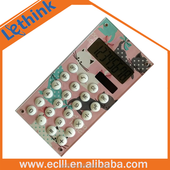 Mini pretty Japan market flat colourful 8 digit calculator for promotion