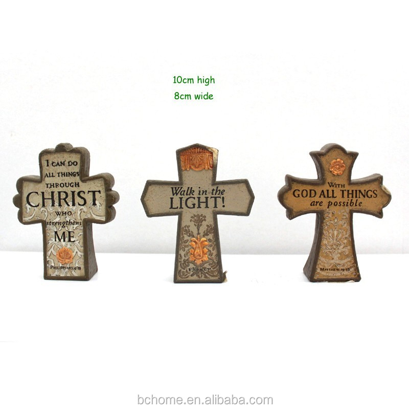 Religious decorative polyresin small crosses for craft