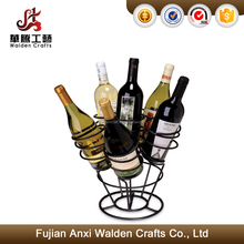 Sturdy Metal Construction 6 Wine Bottles Rack Stand