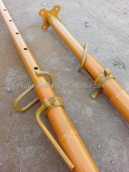 Adjustable Telescopic Prop : Inner outer thread adjustable telescopic props with base