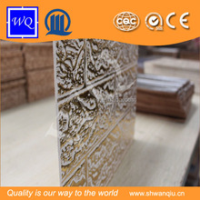 Emboss pattern mdf/waved panels for interior decorative/wall/kitchen