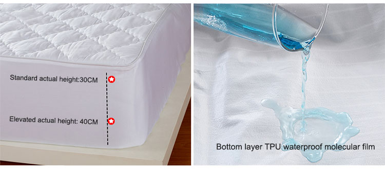 200TC 100% cotton white quilted waterproof mattress cover wholesale mattress protector - Jozy Mattress | Jozy.net