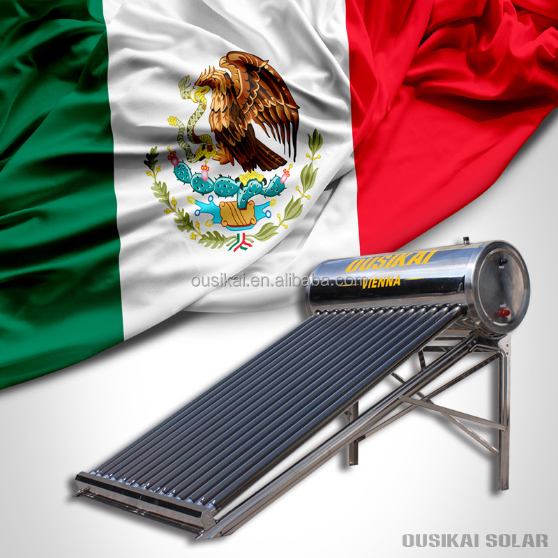 120 litros mexican stainless steel 304 non-pressurized solar water heater