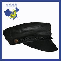 zfqueen faux leather Breton school cap