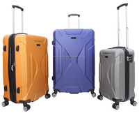 RS170301 3pcs abs expandable trolley case set with double wheel and TSA lock beauty suitcase hard luggage
