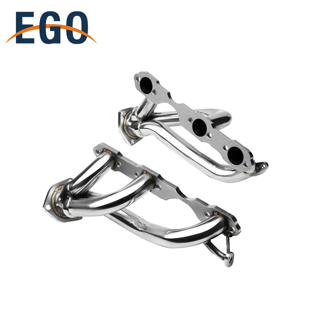 TRUCK CHROME EXHAUST PIPE HEADERS FOR CHEVY S10 BLAZER WITH ALUMINUM MANIFOLD HEAT WRAP