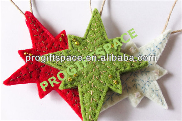 2017 hot sell Eco friendly felt stars rustic home decor in bulk made in China