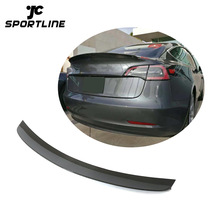for Tesla Model 3 T style Carbon Fiber Car Rear Trunk Wing Spoiler 16-18