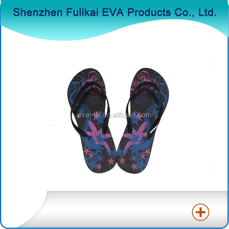 New Fashion Beach Style Girl EVA Silk Screen Printing Sex Hot Popular Sexy Feet Sandals Flip Flop
