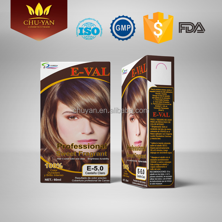 2016 hot selling OEM long lasting hair dye cream GMP certification salon hair color