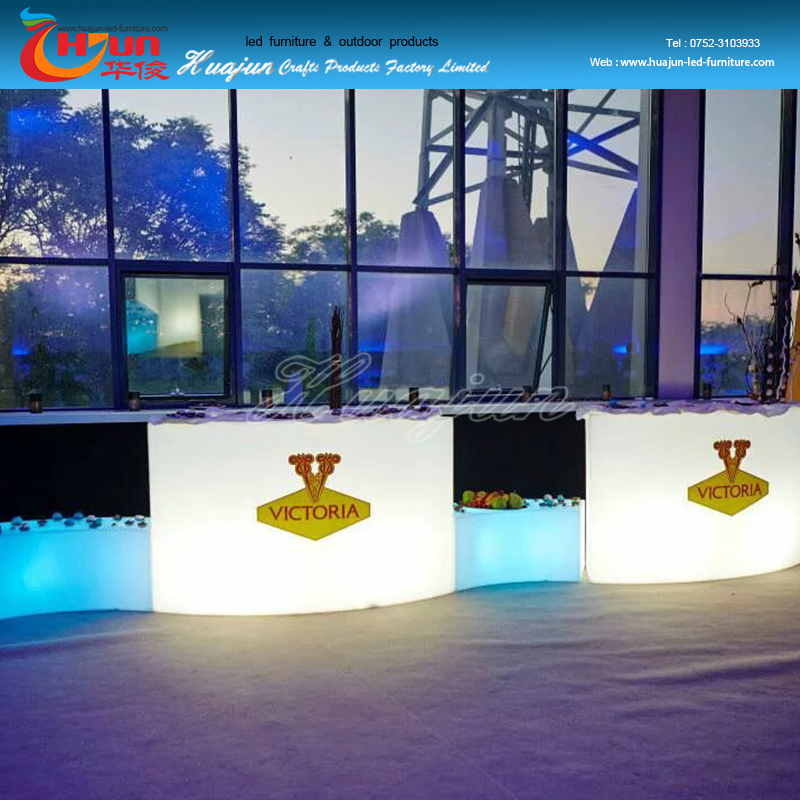 furniture led table/glowing led square bar table/luminous table for outdoor