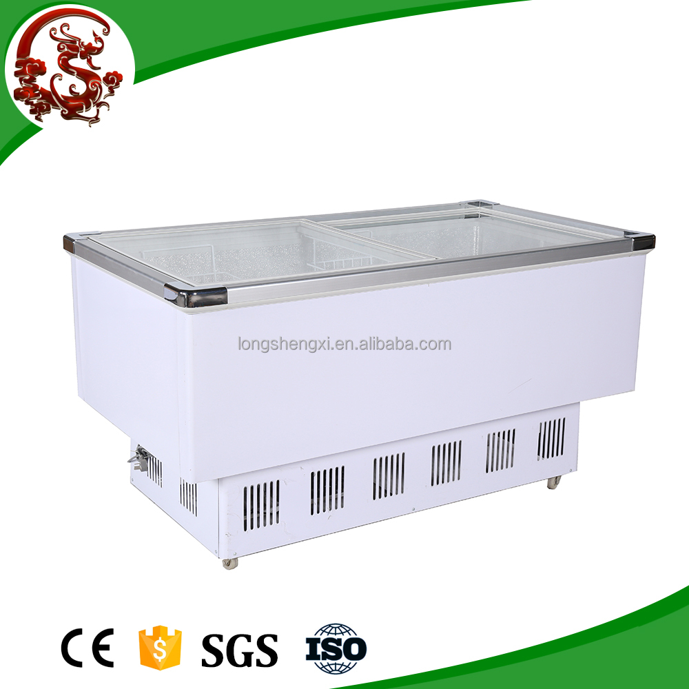 High quality seafood refrigerator supermarket display case