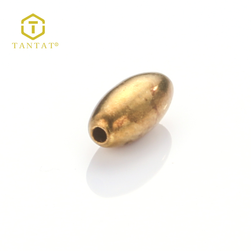 Tantat Oval Shaped Copper Stopper Beads For Jewelry Making