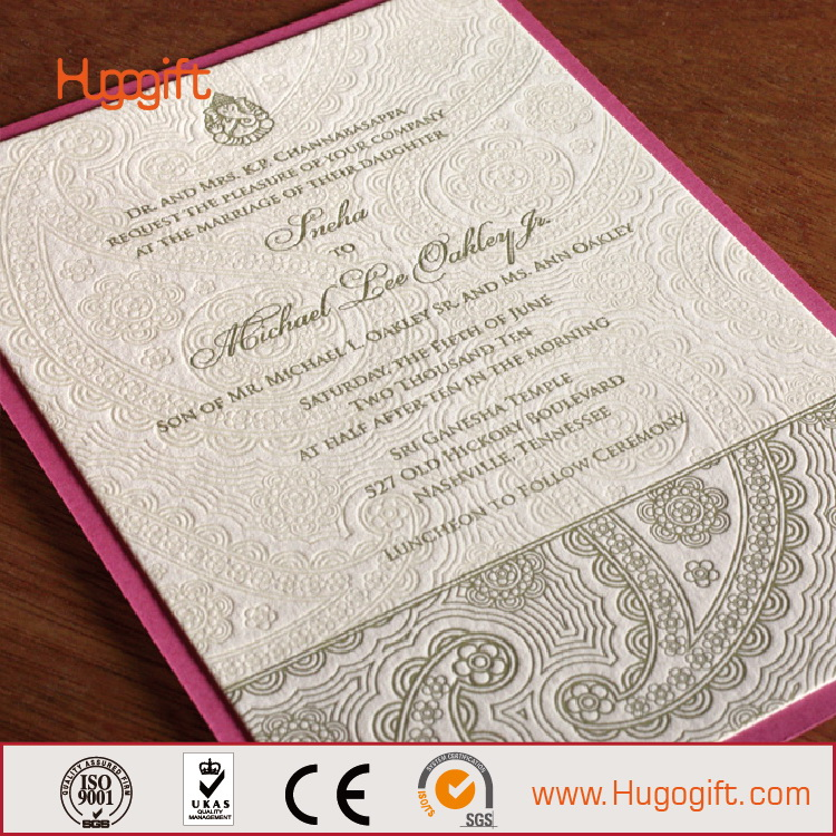 2016 Latest Indian Wedding Card Design