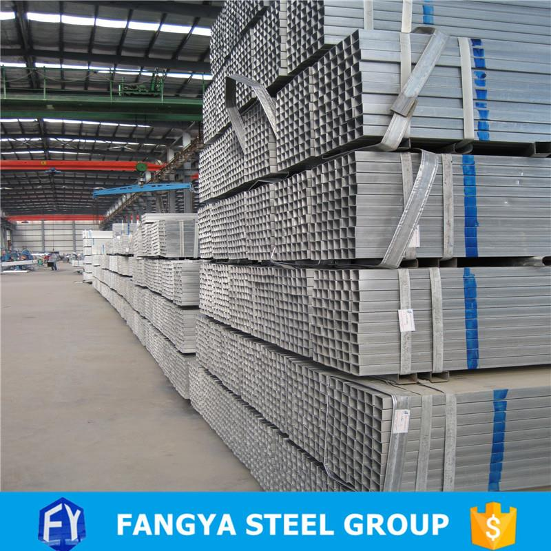 competitive price ! hot galvanized square fence post zine coating 60-100g/m2 galvanized square tube