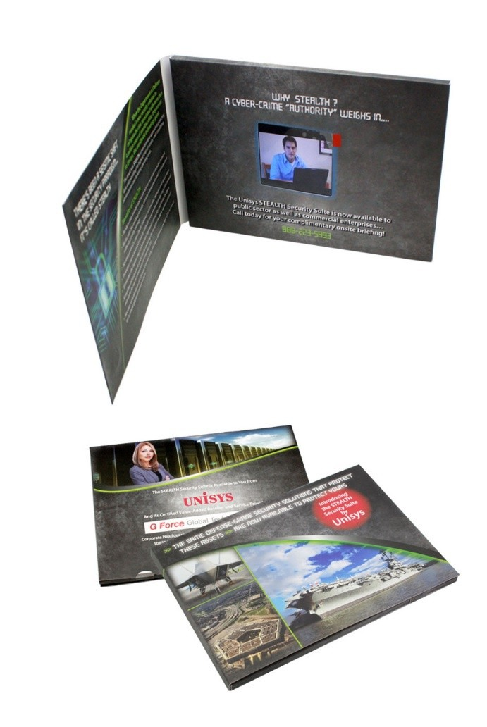 2017 newest invitation video brochure/ lcd video greeting card