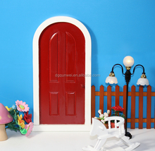 Charming Fairy Garden Miniature Out house Wood with hinged Fairy Door QW60404