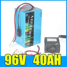 Rechargeable 18650 cell 96v 40ah li-thium battery 5000w suit for e bike battery case