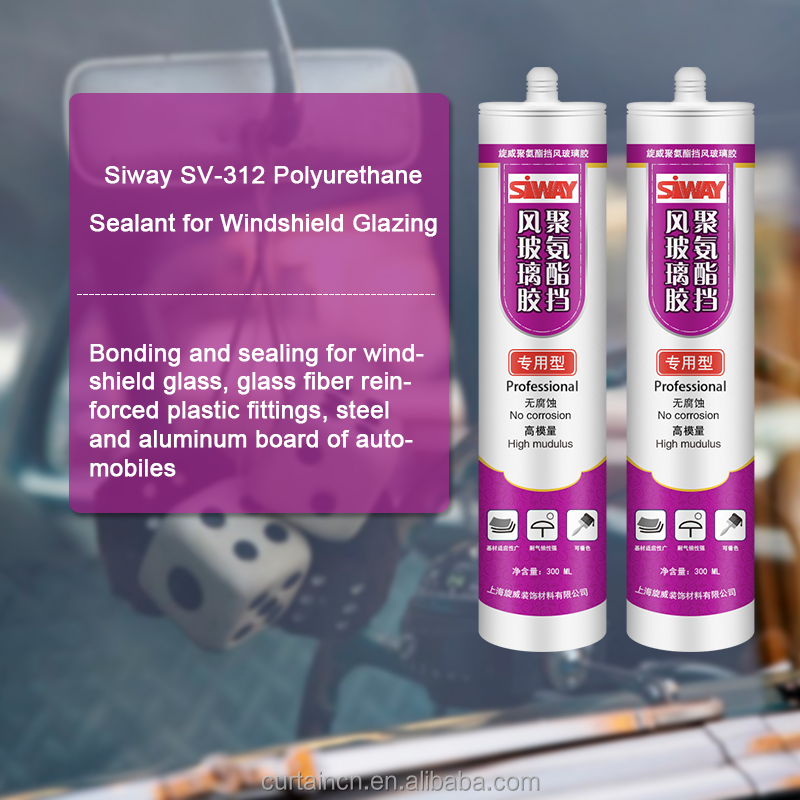 300ML factory price polyurethane sealant for windshield glazing with high quality