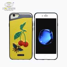 Cherry Embroidery guangzhou hand case shell for apple iphones 8 compatible brand cover