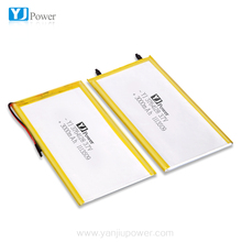Flexible Thin Super Slim 3764128 3000mah Rechargeable High Capacity Lithium-ion Battery 3.7v