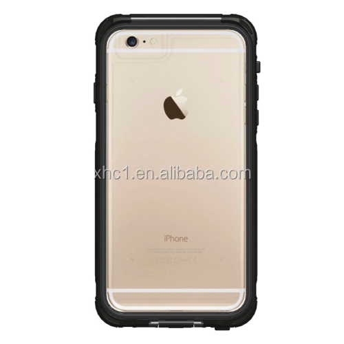 Black Wholesale ABS Material Waterproof Protective Case with Fingerprint Unlock & Touch Screen Function for iPhone 6 Plus