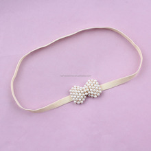 Pearl Bow Ivory Headband For Babies