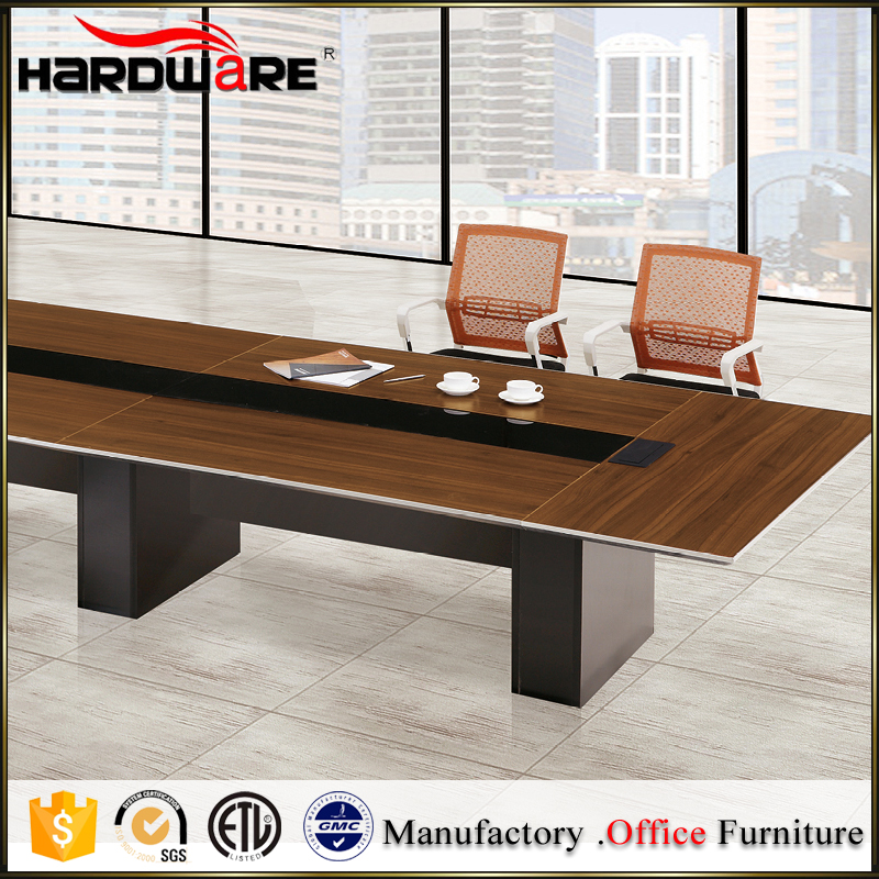 Luxury executive long wood office conference room table