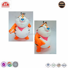 tiger shape figure custom create toy pvc