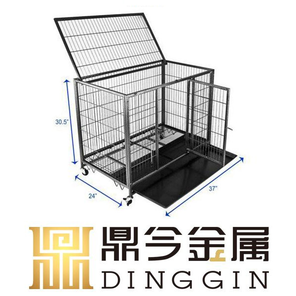 Unique hollow tube dog cage