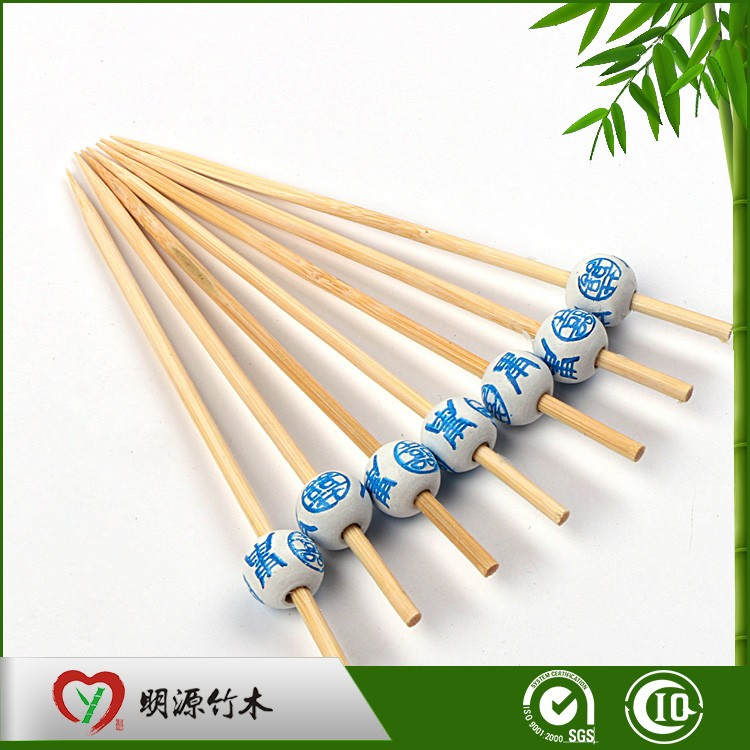 heart-shaped fruit decoration bamboo skewer