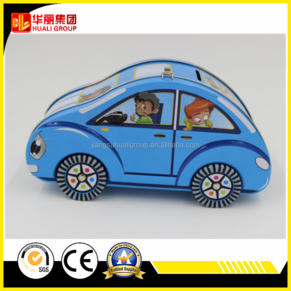 Car shaped coin bank tin box