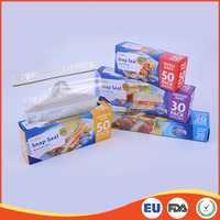LDPE Customised small size snap seal resealable bag for supermarket