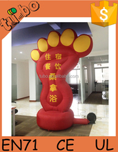 hot sale customized inflatable foot/inflatable model/ inflatable cartoon for inflatable advertising