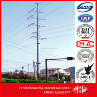 110 kv Galvanized electric Pole for Power Transmission Line