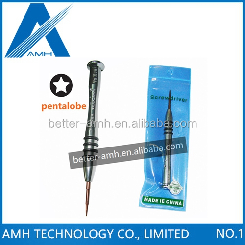 50PCSLOT YAXUN Professional Precision Screwdriver YX-289B for iPhone 44S 55S Repair Tool, 5-Point Star Pentalobe 0.8x25mm