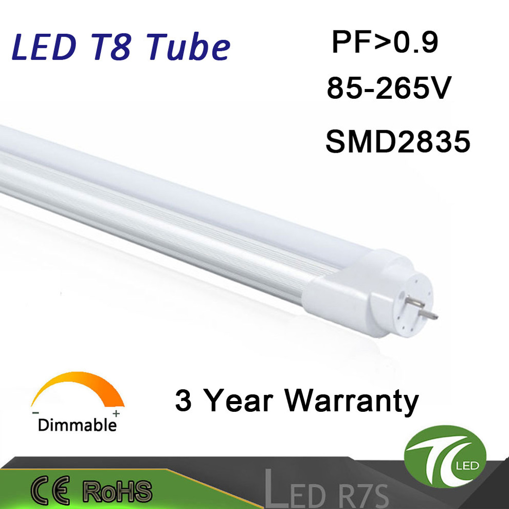High quality warm white natural white 110lm/w clear pc cover tube10 led tube for bathroom