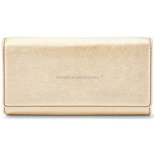 Nude Beige Camel Brown Coin Cash Credit Renovate Wallet Leather Trifold Women Wallet