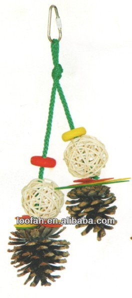 hot hanging wooden bird toy