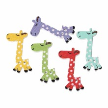 Bulk Sale Scrapbooking Cute Giraffe 2 Holes Mixed Wood Painting Sewing Buttons