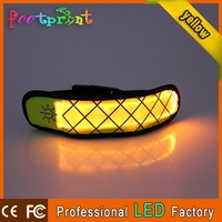 led flashlight wristband mens leather bracelet